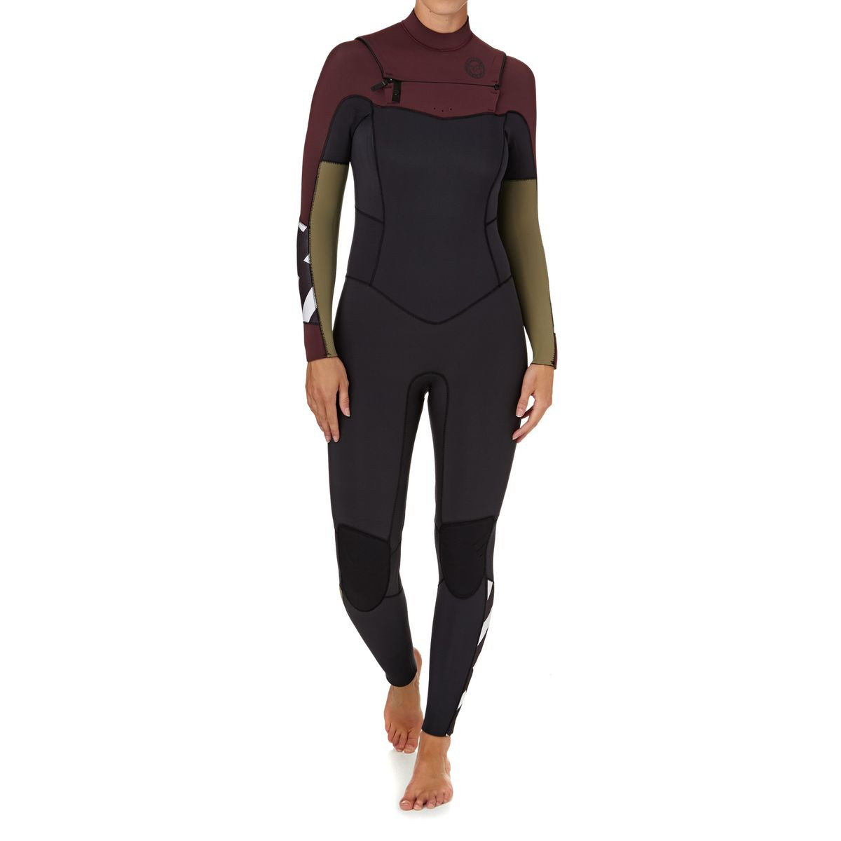 Billabong Womens Surf Capsule Salty Dayz 5/4mm 2018 Chest Zip Wetsuit - Mulberry