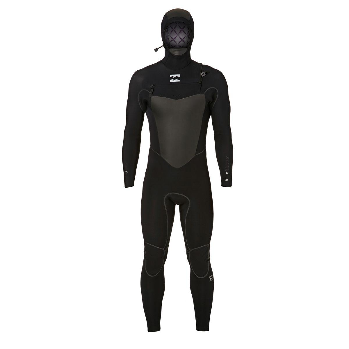 Billabong Furnace Carbon X 5/4mm 2018 Hooded Chest Zip Wetsuit - Black