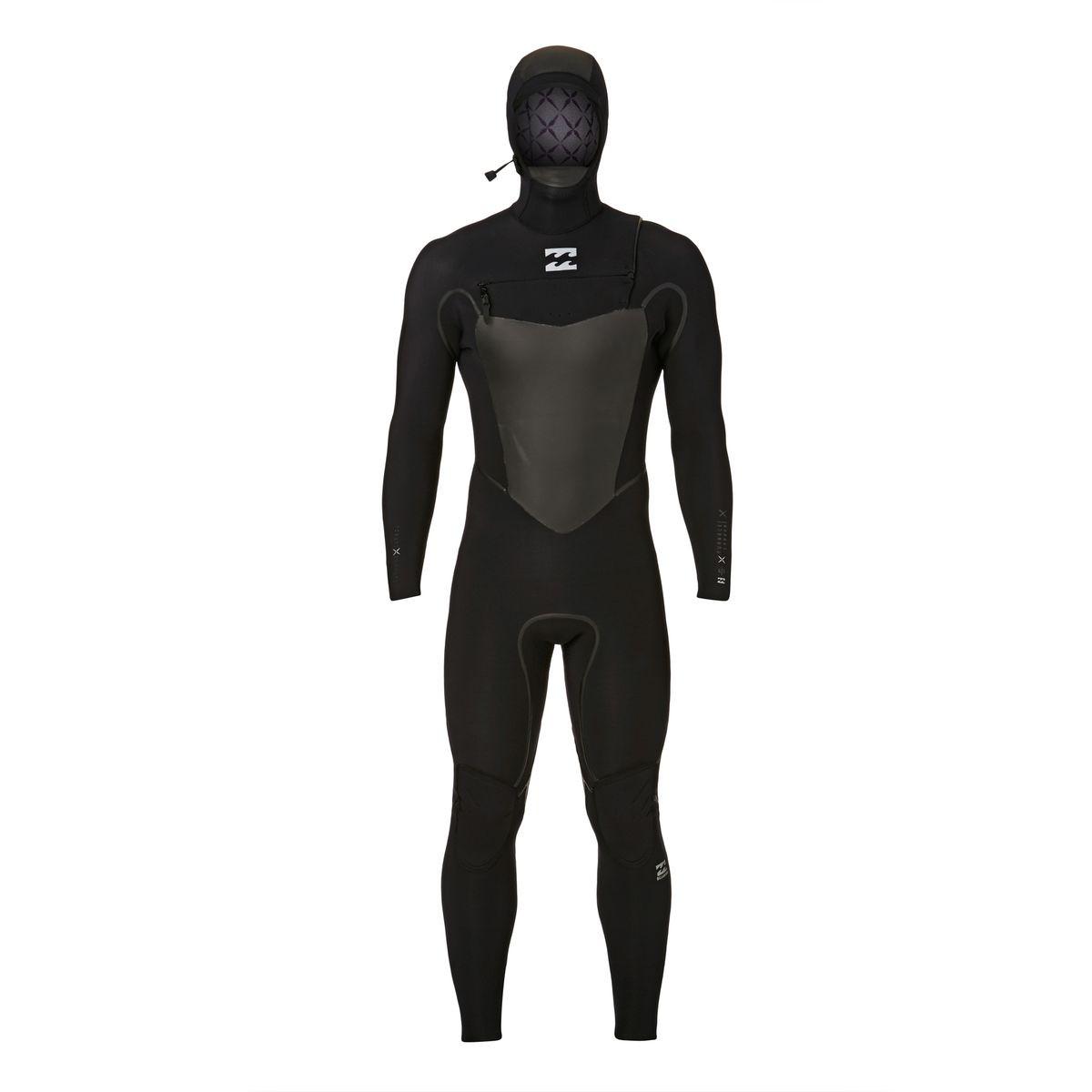Billabong Furnace Carbon X 6/5mm 2018 Hooded Chest Zip Wetsuit - Black