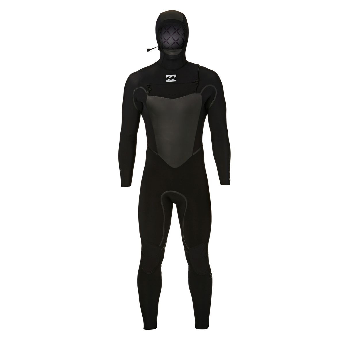 Billabong Furnace Carbon X 7/6mm 2018 Hooded Chest Zip Wetsuit - Black
