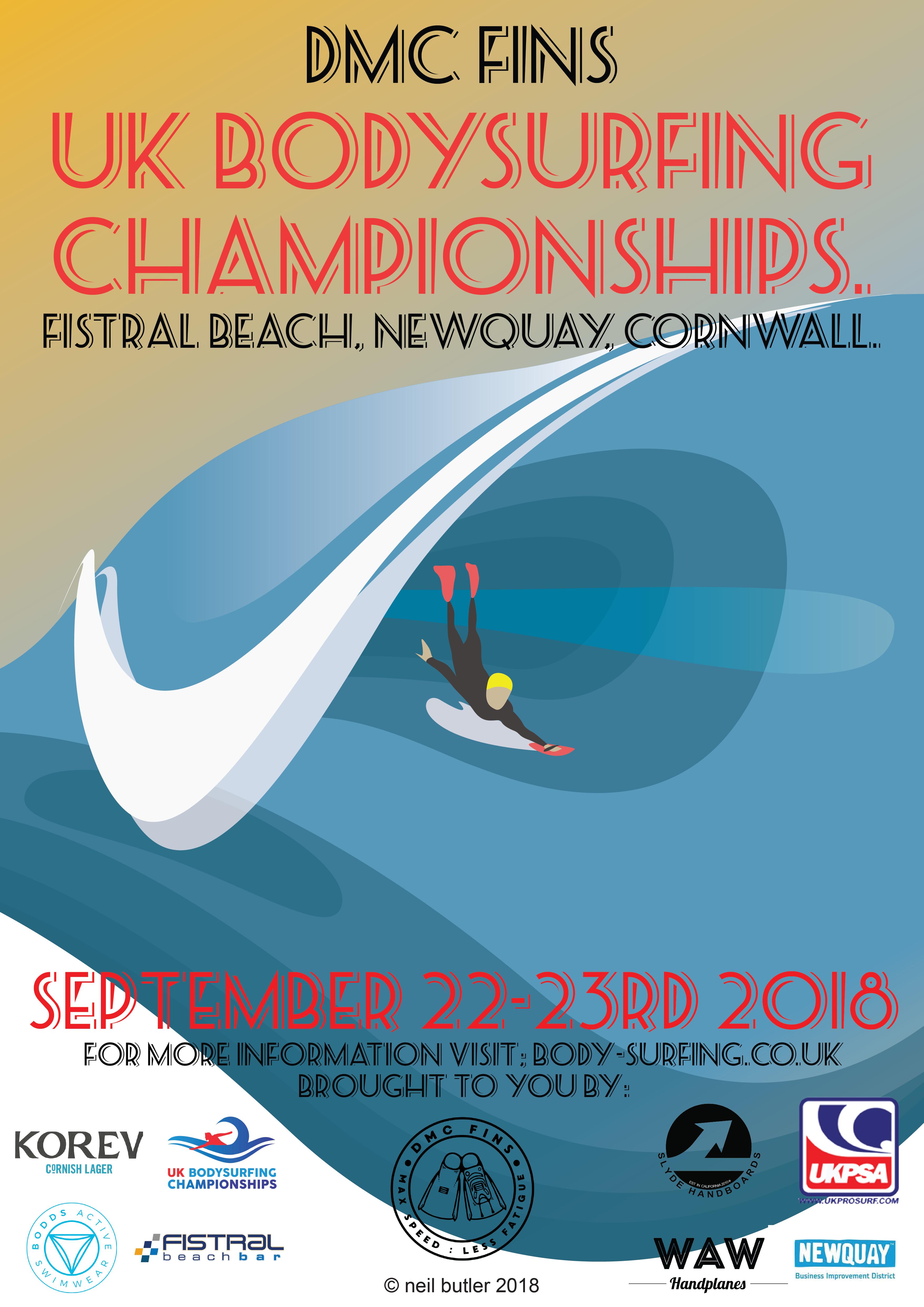 DMC Fins UK Bodysurfing Championships 2018