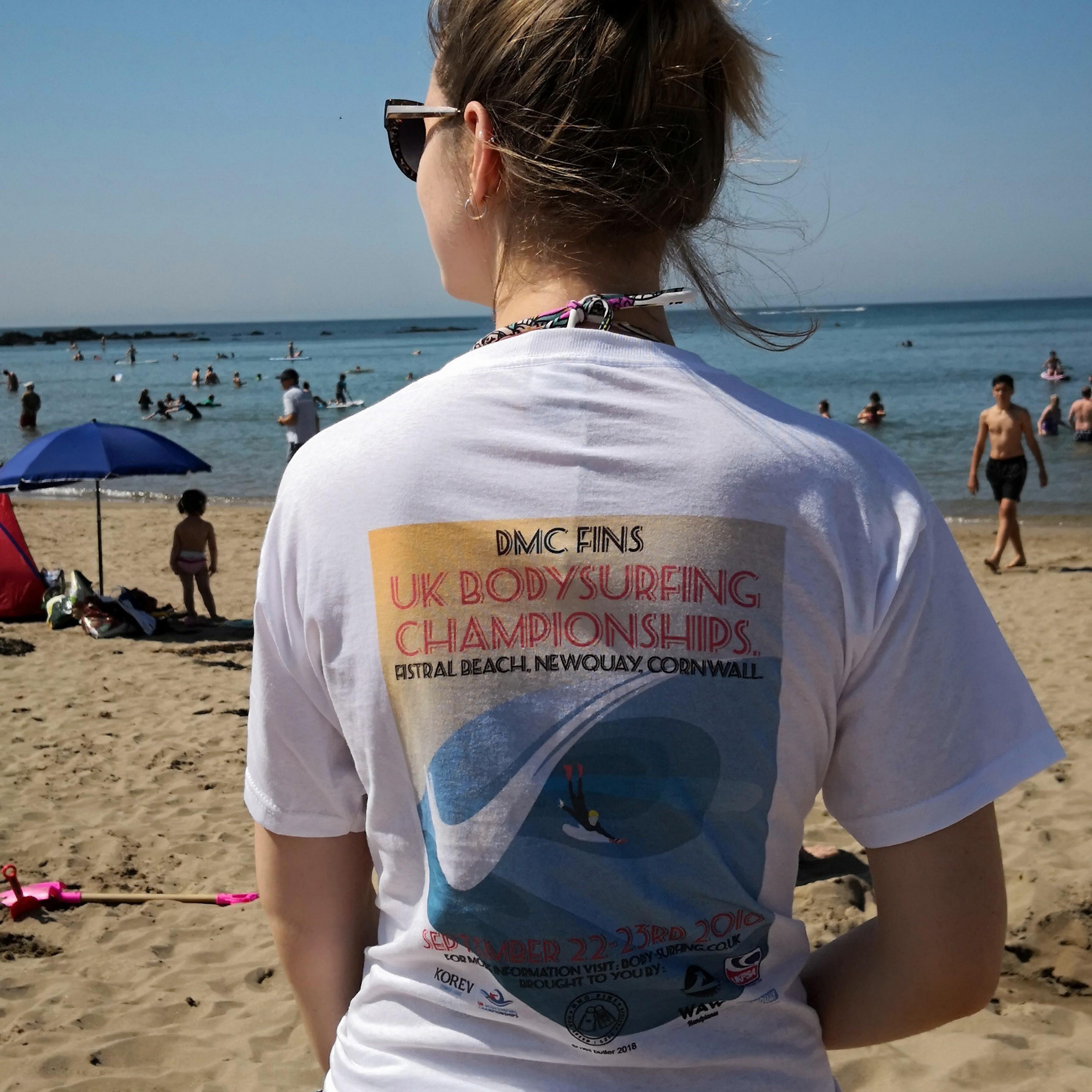 UK Bodysurfing Championships t-shirts