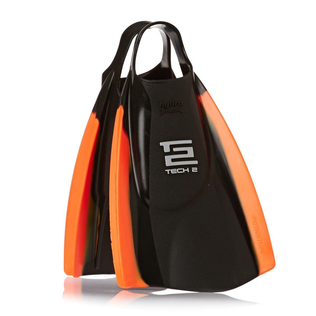 Hydro Tech 2 Bodyboard Fins - Black/ Orange