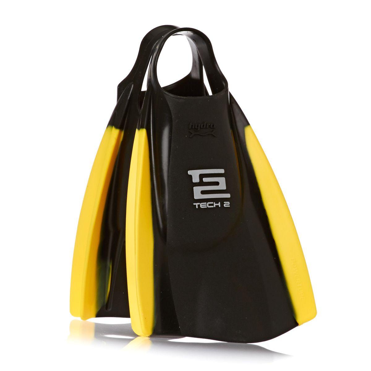 Hydro Tech 2 Bodyboard Fins - Black/ Yellow