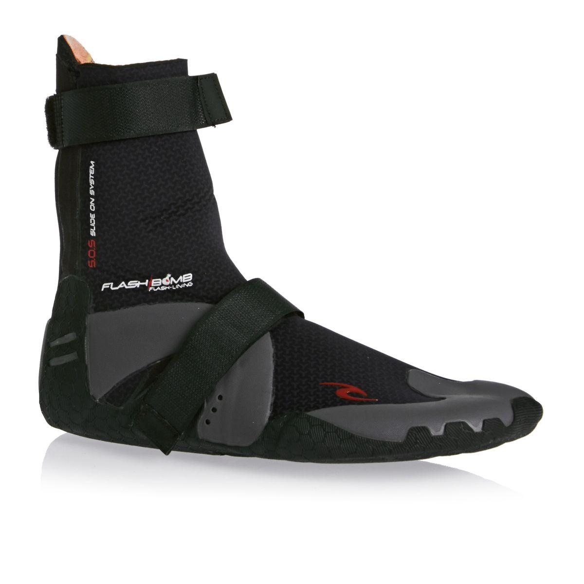Rip Curl Flashbomb 3mm Hidden Split Toe Wetsuit Boots - Black