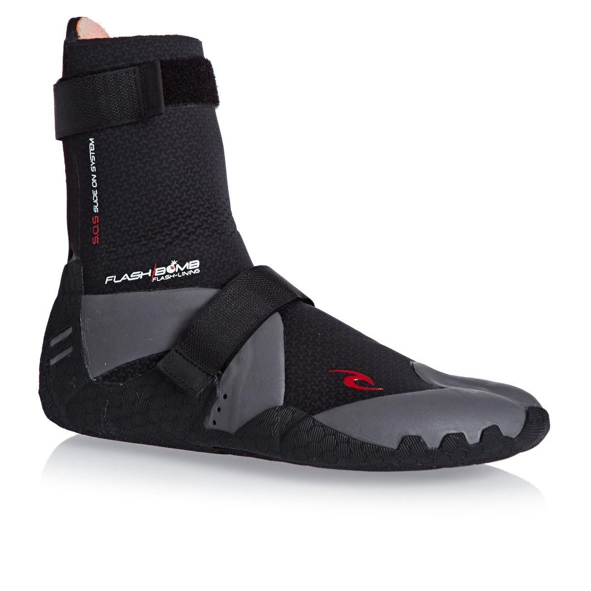 Rip Curl Flashbomb 5mm Hidden Split Toe Wetsuit Boots - Black
