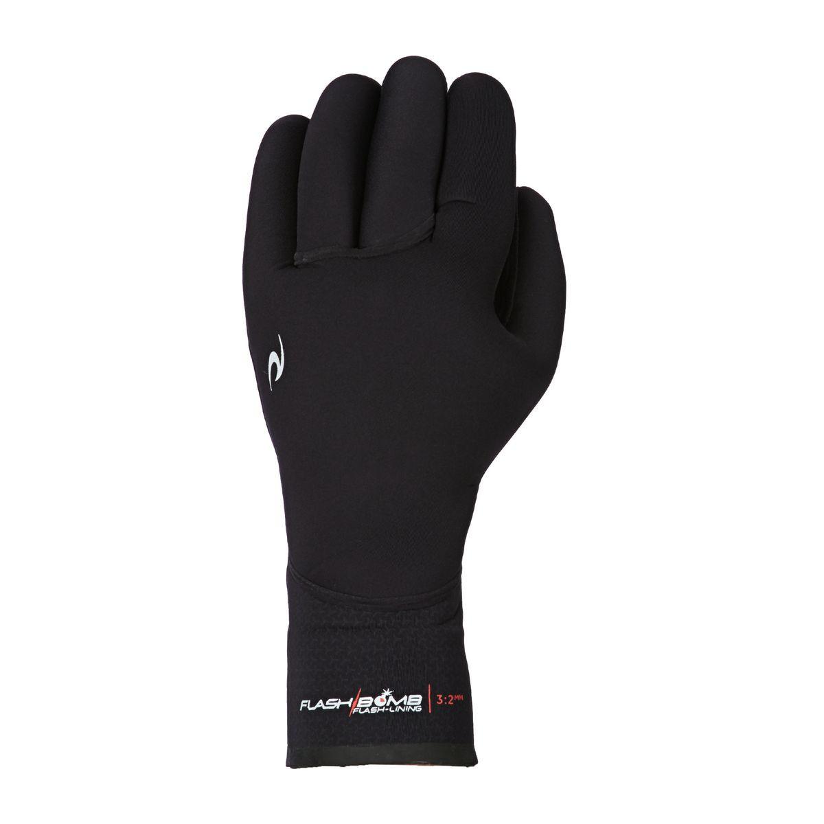 Rip Curl Flashbomb 3/2mm 5 Finger Wetsuit Gloves - Black