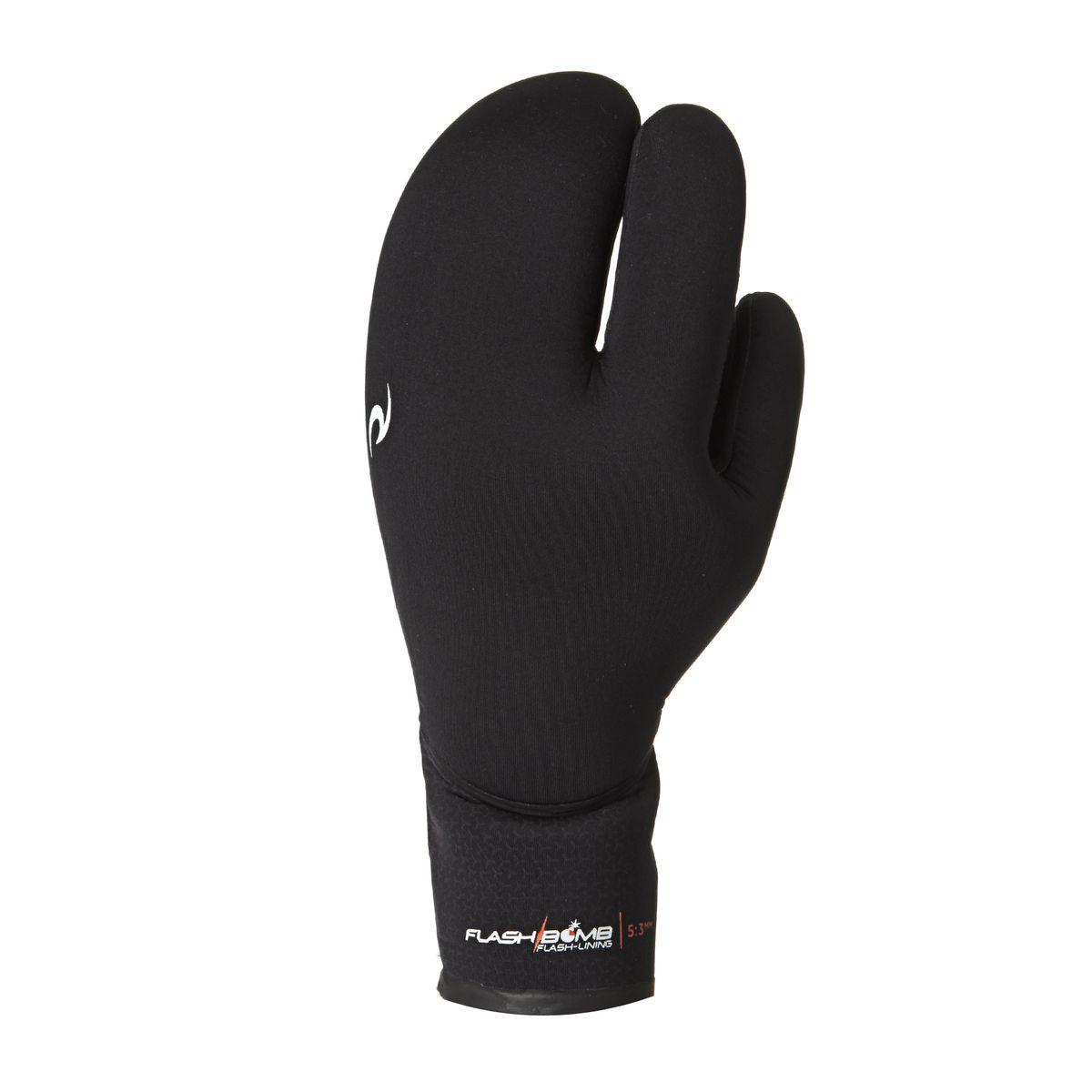 Rip Curl Flashbomb 5/3mm 3 Finger Wetsuit Gloves - Black