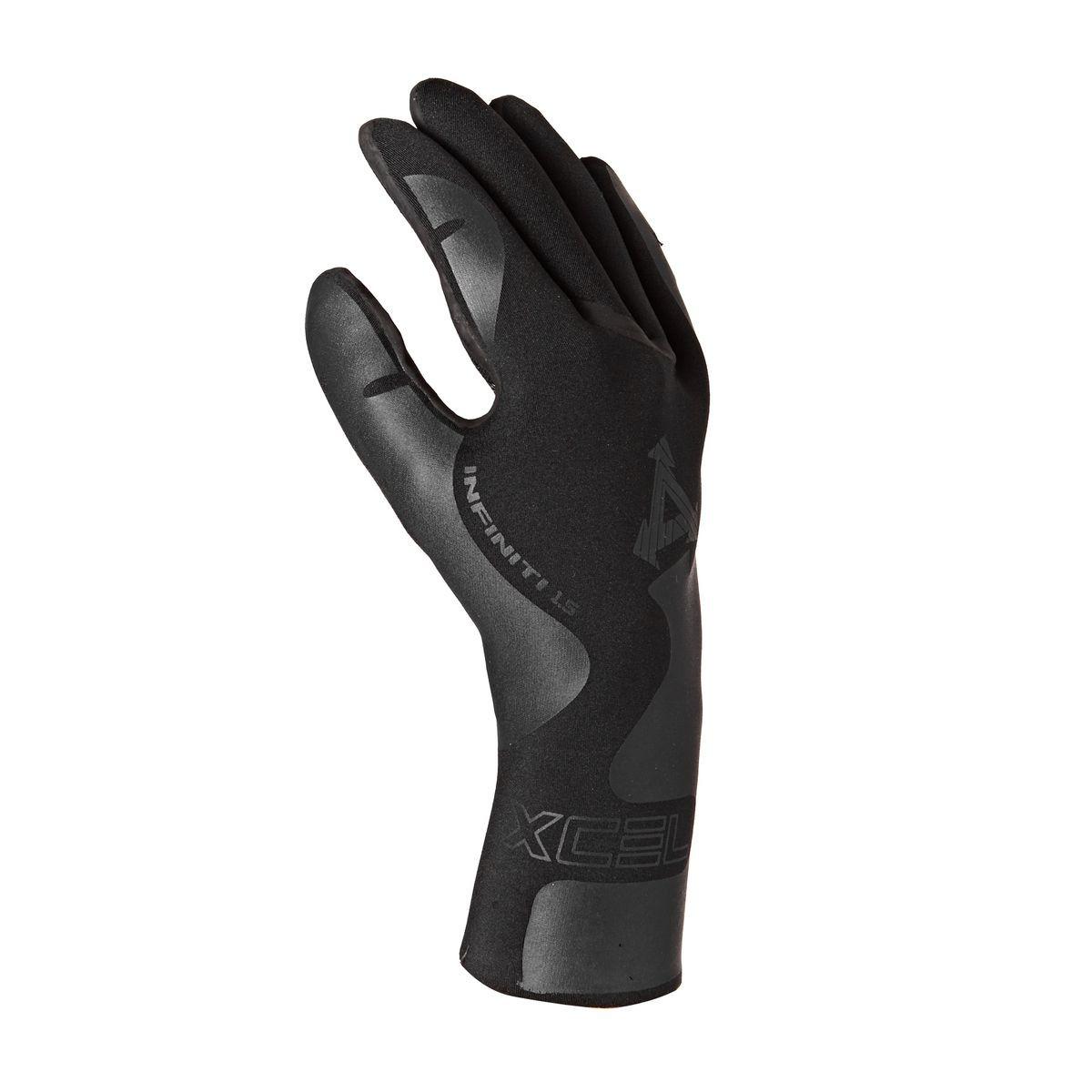 Xcel Infiniti 1.5mm 5-finger Wetsuit Gloves - Black