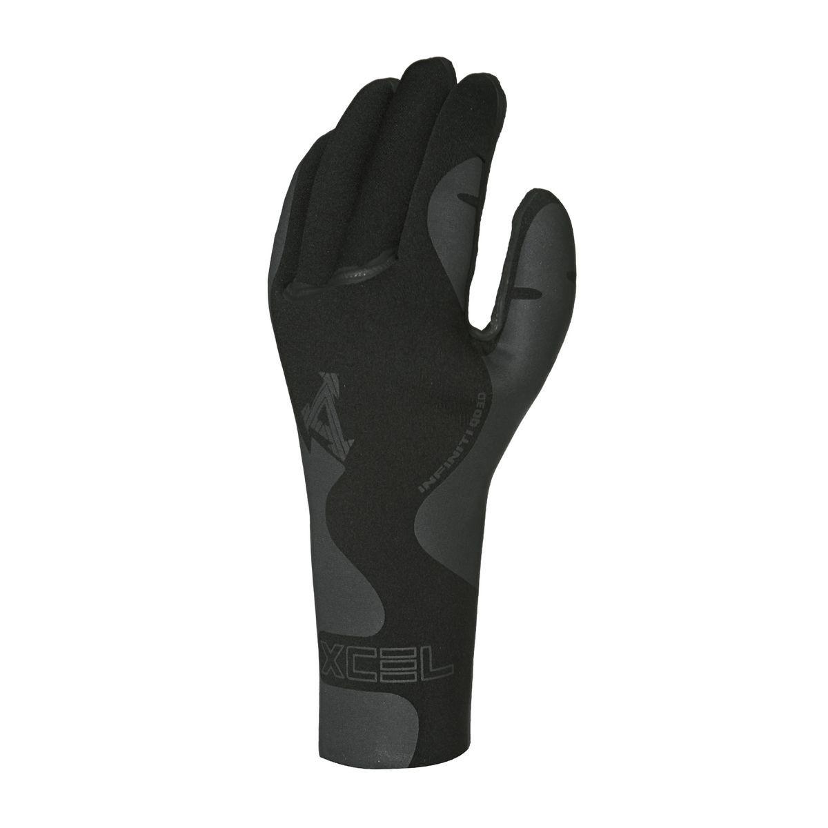 Xcel Infiniti 3mm 5-finger Wetsuit Gloves - Black