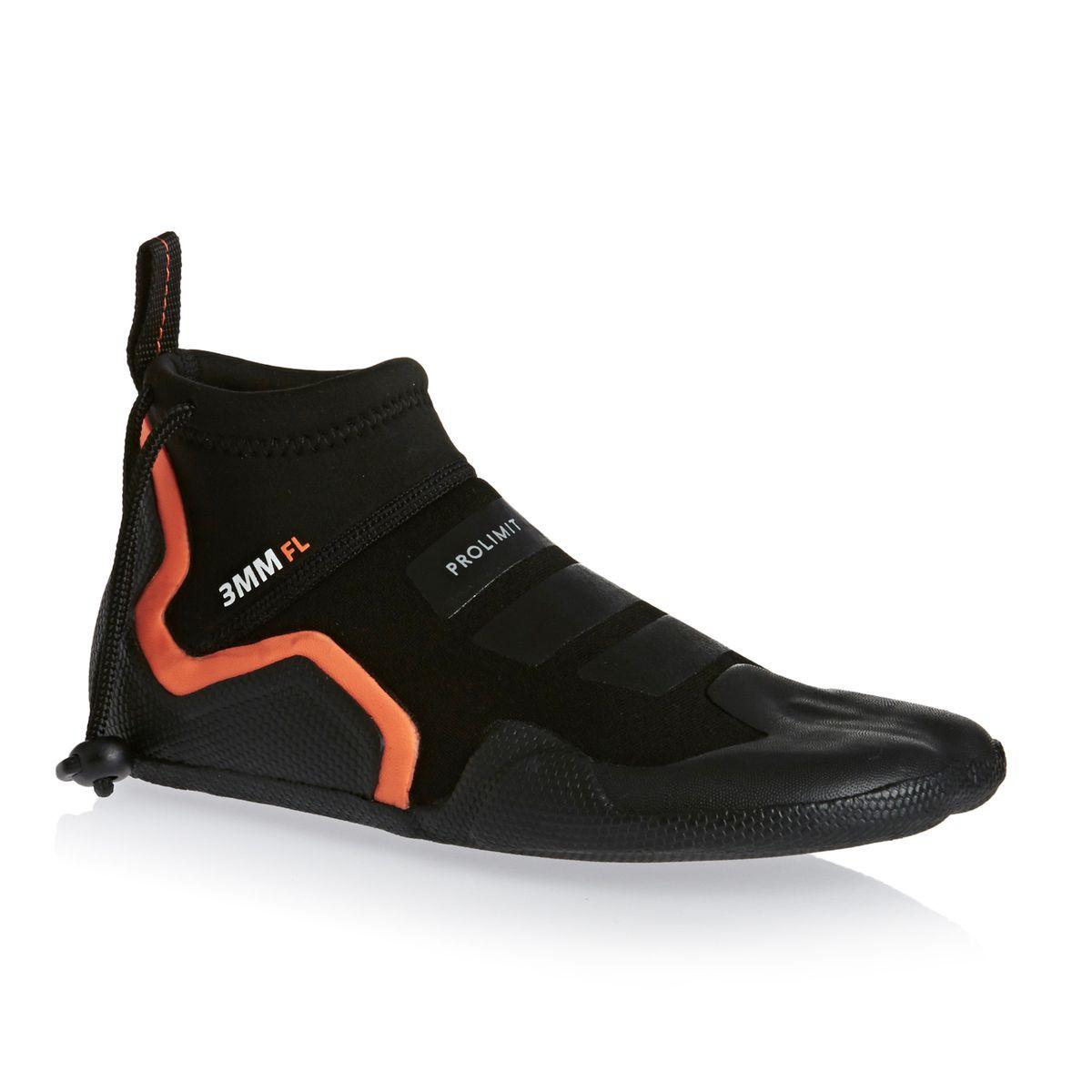 Prolimit Pl Evo Shoe 3mm 2017 Round Toe Wetsuit Boots - Black/ Orange