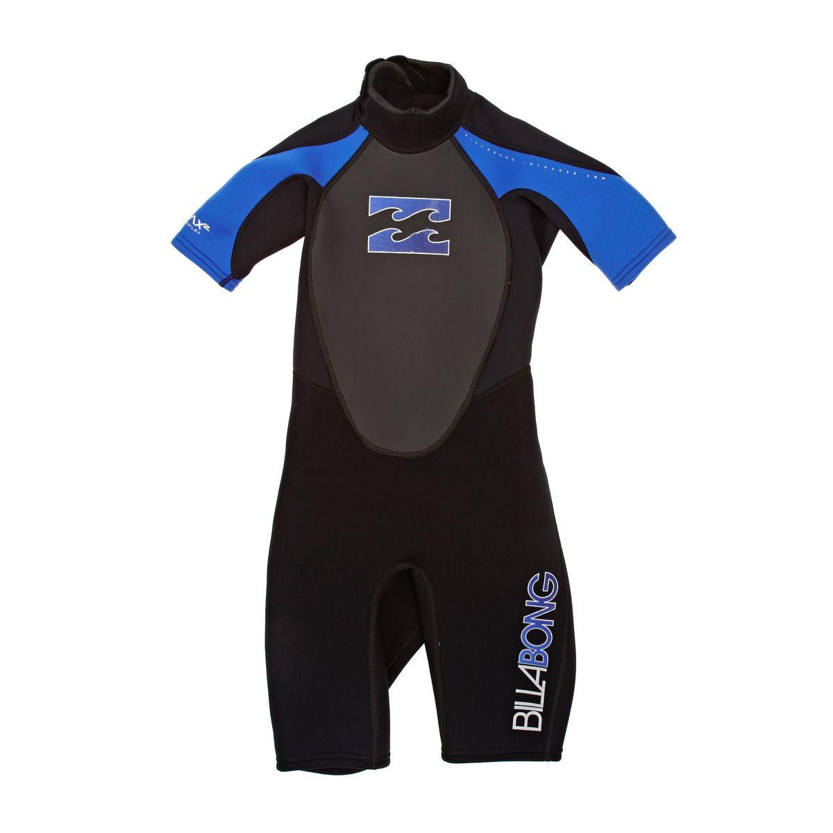 Billabong Boys Intruder 2mm Short Sleeve Wetsuit - Blue