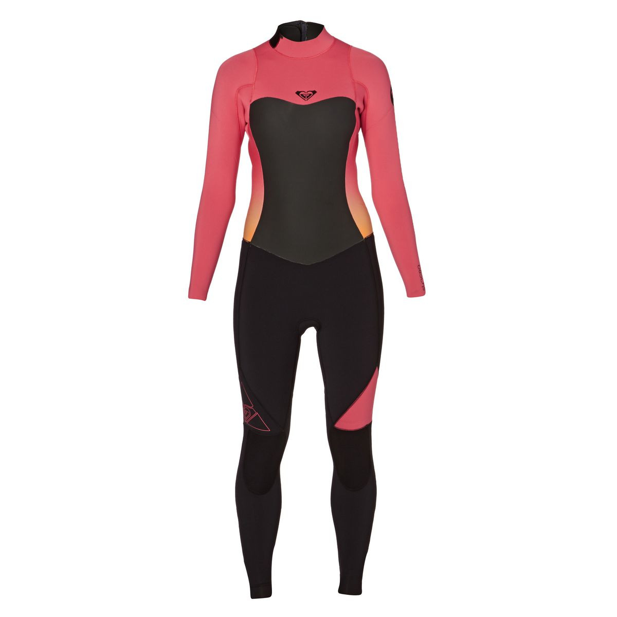 Roxy Womens Syncro 4/3mm 2017 Back Zip Wetsuit - Paradise Pink