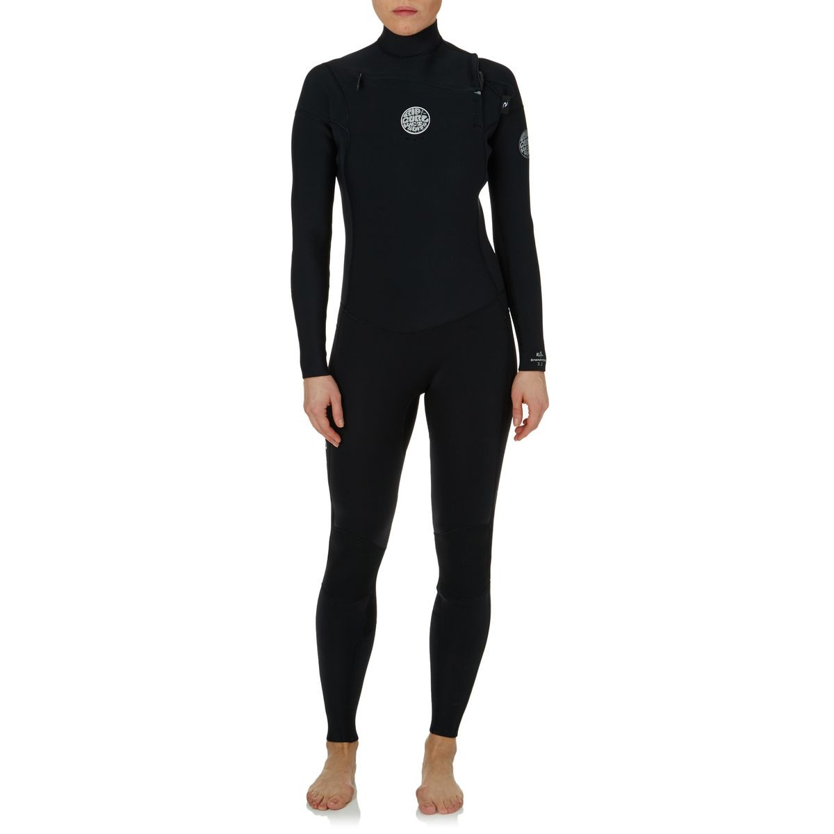 Rip Curl Womens Dawn Patrol 3/2mm 2017 Chest Zip Wetsuit - Black
