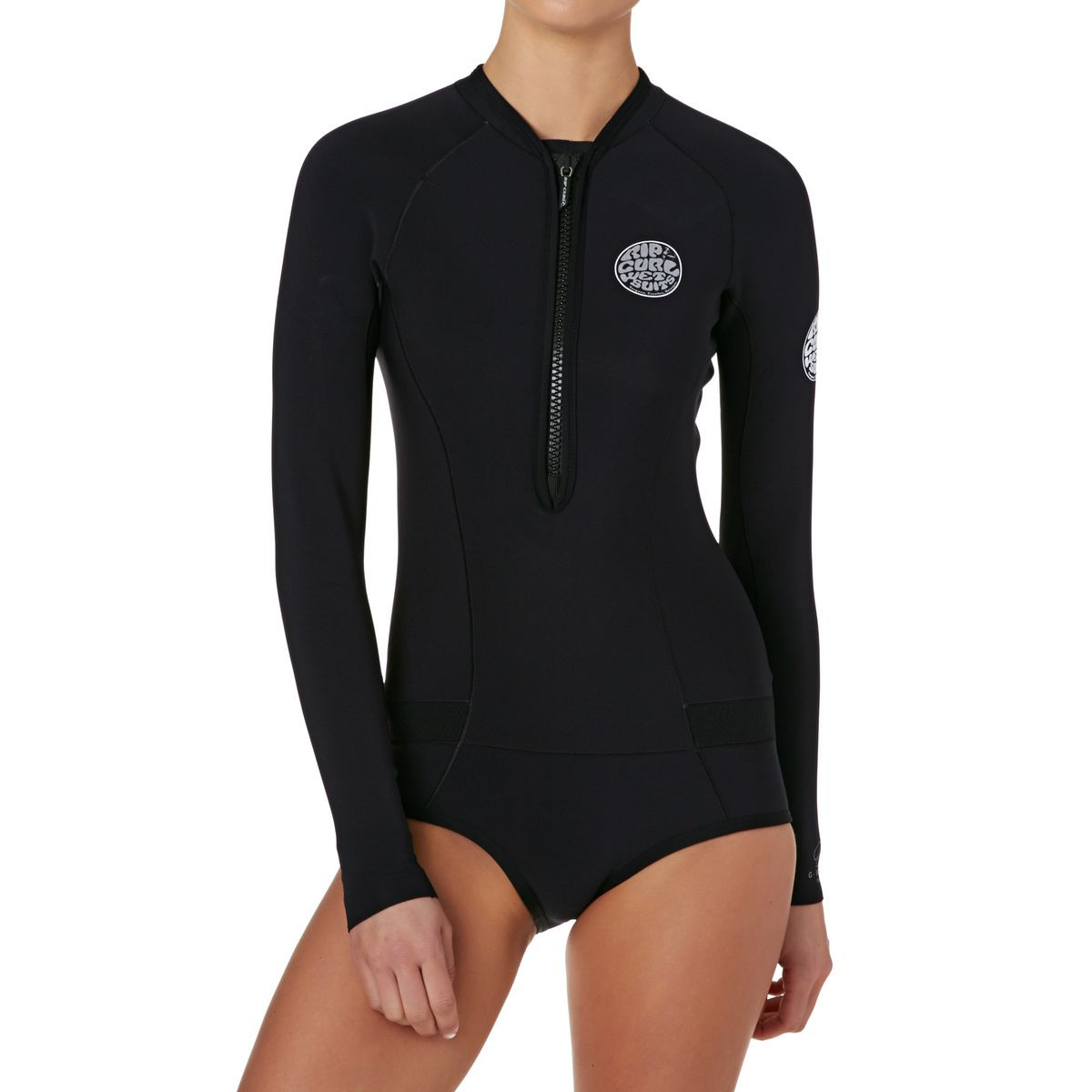 Rip Curl Womens G-bomb 1mm Front Zip Long Sleeve Hi Cut Shorty Wetsuit - Black