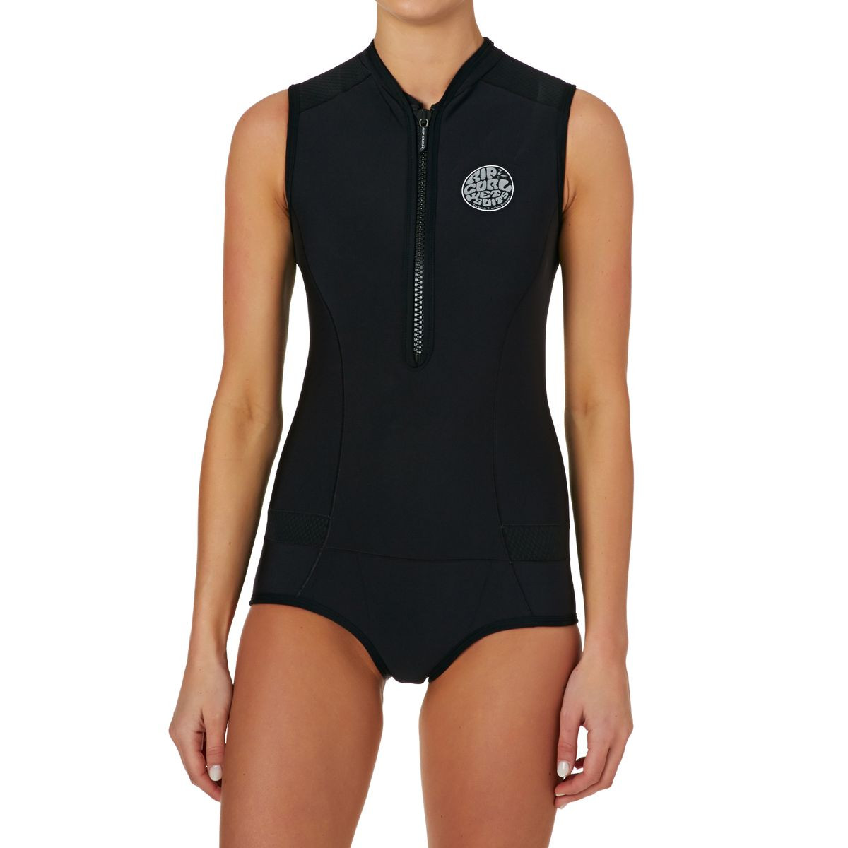 Rip Curl Womens G-bomb 1mm Front Zip Capsleeve Shorty Wetsuit - Black