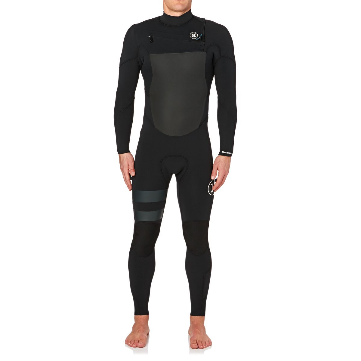 Hurley Fusion 4/3mm 2017 Chest Zip Wetsuit - Black
