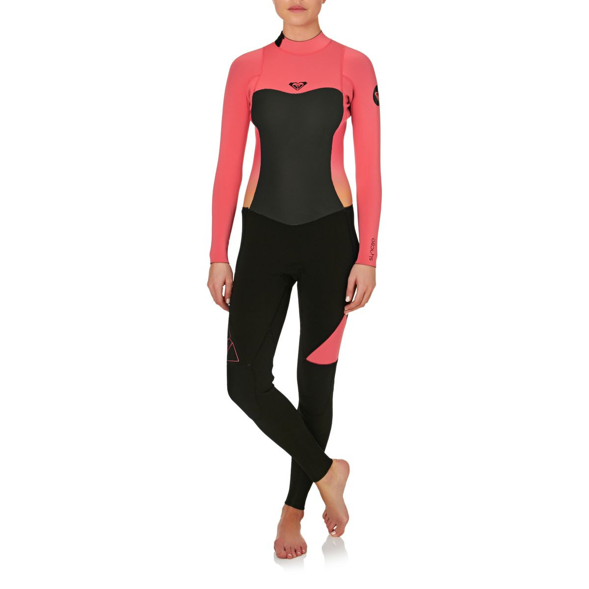 Roxy Womens Syncro 3/2mm Back Zip Wetsuit - Paradise Pink