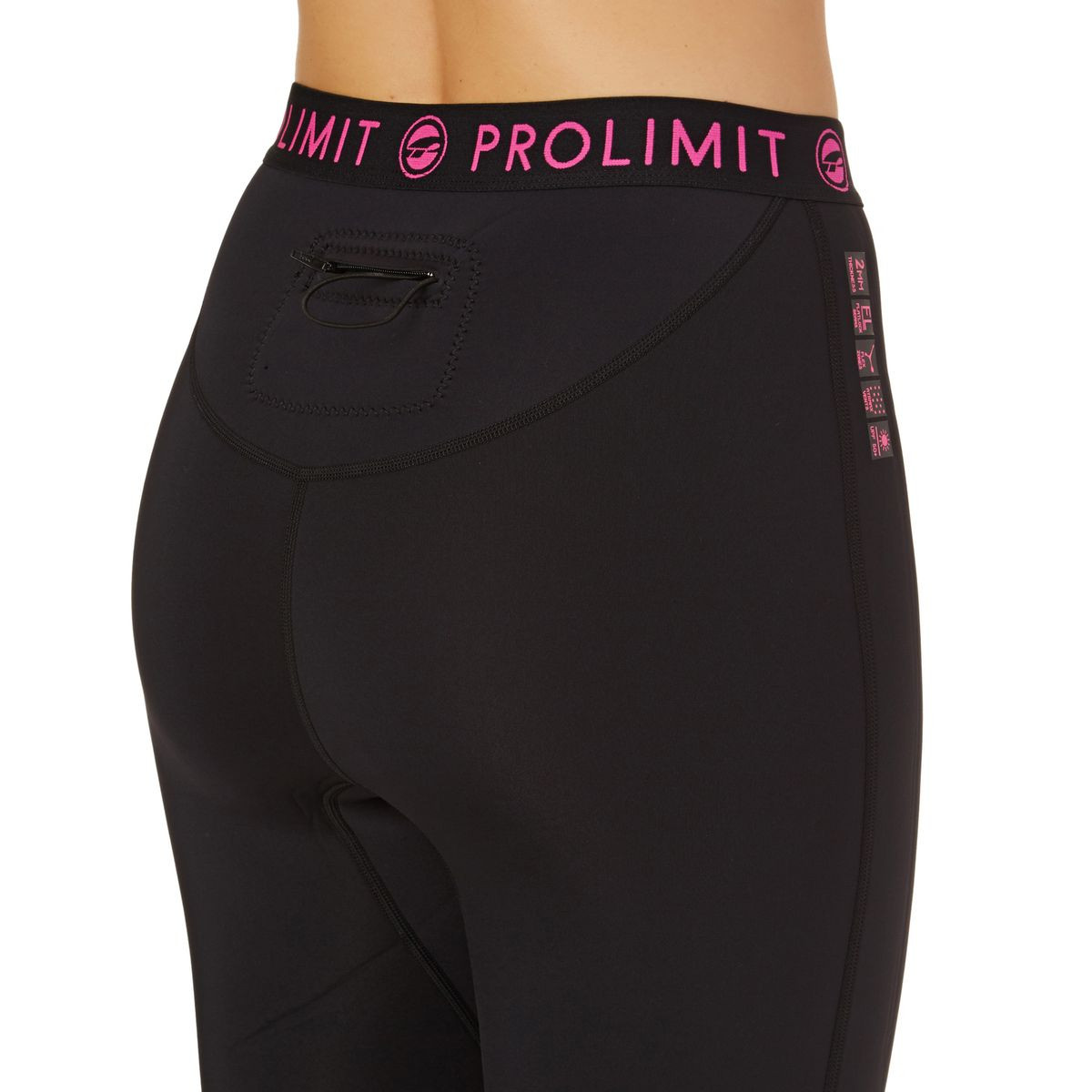 Prolimit Womens SUP Neo 2mm 2017 Airmax Long Wetsuit Pants - Black/ Pink