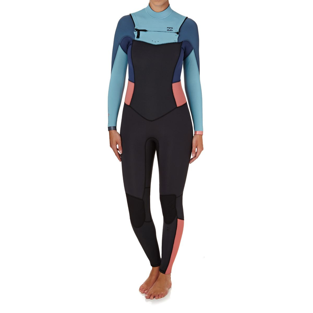Billabong Womens Synergy 4/3mm 2018 Chest Zip Wetsuit - Agave